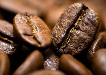Coffee Beans Wide Desktop Background
