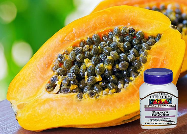 Таблетки для пищеварения: энзимы папайи от 21st Century Health Care